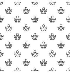 customer retention pattern seamless vector image