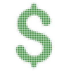 dollar halftone icon vector image