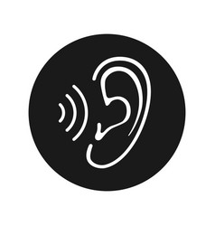 Ear symbol vector