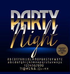 exclusive golden party night banner vector image
