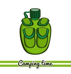 Flask Camping Equipment vector image