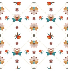 Floral ornament with cells in Hungarian style vector