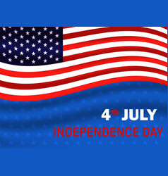 fourth july independence day usa usa flag vector image