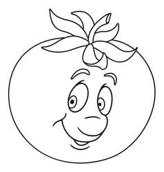 Fresh tomato cartoon vector