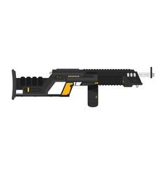Futuristic sci-fi assault beam rifle flat vector
