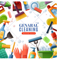 General cleaning frame vector