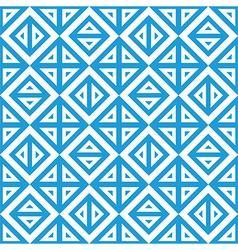 Geometric abstract blue white pattern seamless vector image