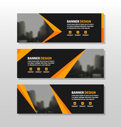 Gold corporate business banner templates set vector