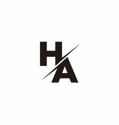 Ha logo letter monogram slash with modern logo vector