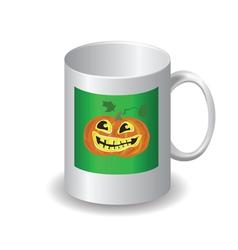 halloween mug vector image