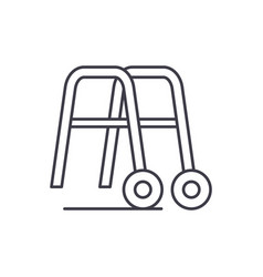 handrails for walking line icon concept handrails vector image