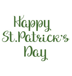 happy st patricks day lettering ornate vector image