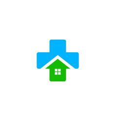 home medical logo icon design vector image
