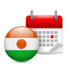 Icon of national day in niger vector