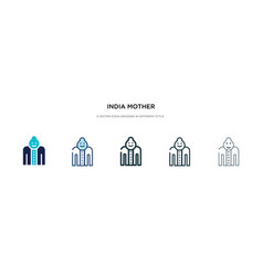 india mother icon in different style two colored vector image