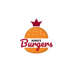 king burger logo designs inspirations vector image