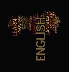 learn to speak english text background word cloud vector image