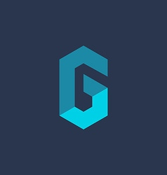 Letter G number 6 technology logo icon design vector