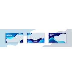 liquid abstract banner design fluid shaped vector image