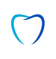 love shape dental care blue symbol design vector image