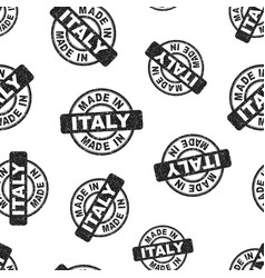 made in italy stamp seamless pattern background vector image