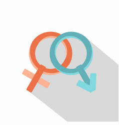 male and female gender signs icon flat style vector image