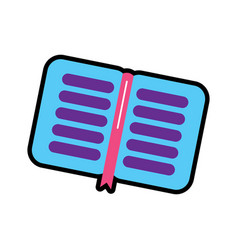 notebook open icon image vector image