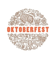 Oktoberfest Cartoon icons vector image