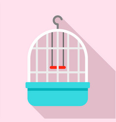 parrot cage icon flat style vector image