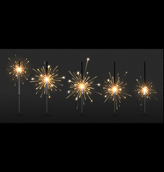 party sparklers christmas bengal firework steps vector image
