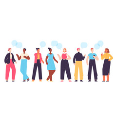 People communicate diverse character group vector