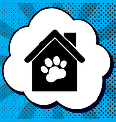 Pet shop store building sign vector