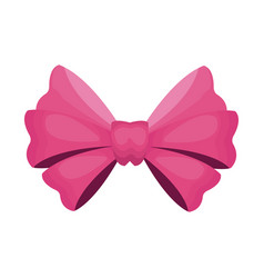 Pink bow icon vector