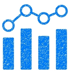Point Chart Grainy Texture Icon vector