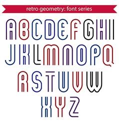 Poster elegant stripy typeset colorful vector