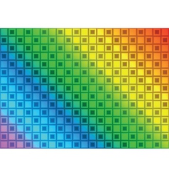 Rainbow rectangle abstract background vector image