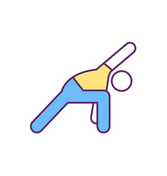 Regular physical activity rgb color icon vector