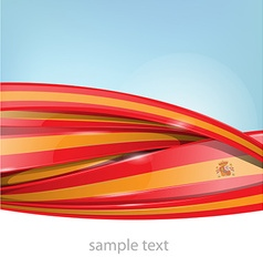 ribbon spain flag on background vector image