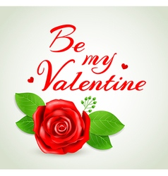 Romantic background with red rose vector image