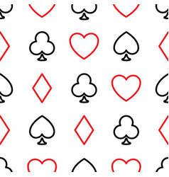 seamless pattern background poker suits vector image