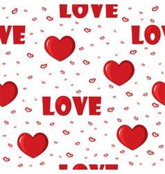 Seamless with hearts vector