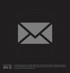 send mail icon - black creative background vector image