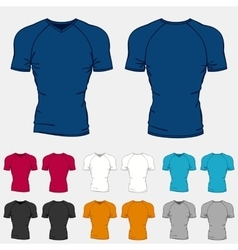 Set of colored t-shirts templates for men vector