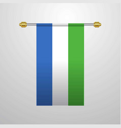 sierra leone hanging flag vector image