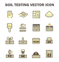 Soil test icon vector