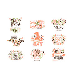 Spring 1 may set for label design spring vector