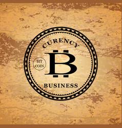 Star shaped bitcoin logo vector