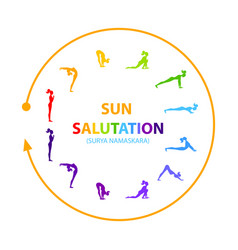 Sun Salutation Yoga Asana Royalty Free Vector Image