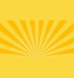 sunrays on orange background with halftone vector image