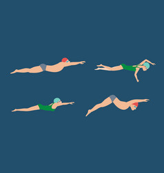 Swimming style scheme vector